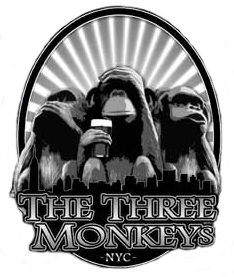 monkeyslogo.min Menus - Craft Beer Near Me | The Three Monkeys Bar
